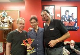 Vitaly Beckman and Penn & Teller Backstage